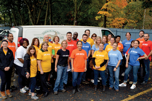 Central Hudson employees volunteering