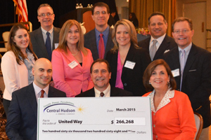 Central Hudson employees present a check to the United Way from our Annual Employee Campaign.