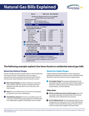 Residential Natural Gas Bills