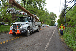 Central Hudson crews repairing storm damage